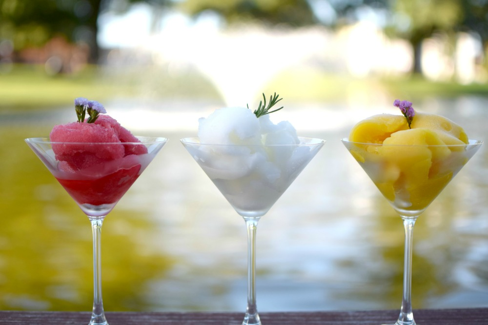 Lemon, Mango and Wine Homemade Sorbet Recipes