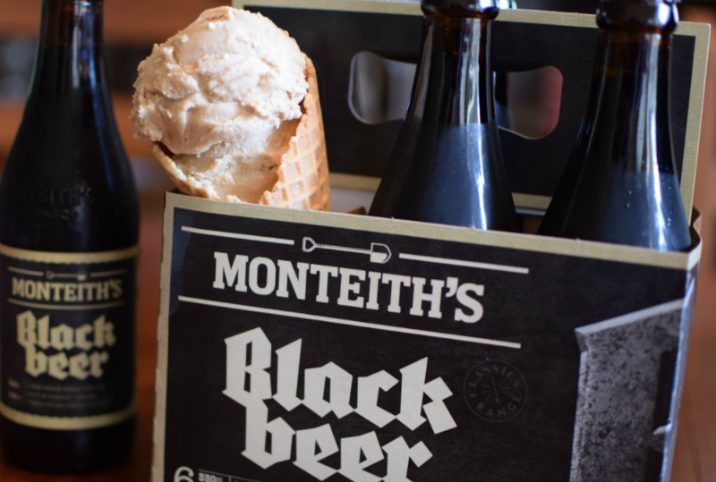 black beer ice cream