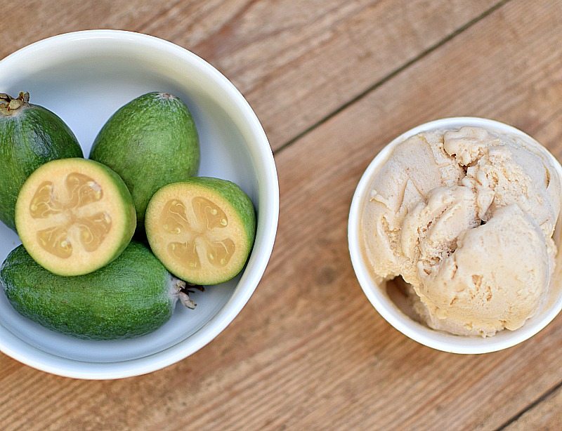 Fresh Feijoa Ice Cream