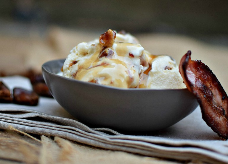 glazed bacon ice cream