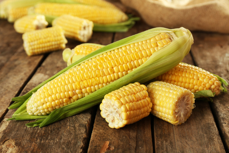 A pile of corn ready to be churned into ice cream