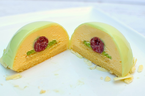 Pistachio Mousse Dome Revealed