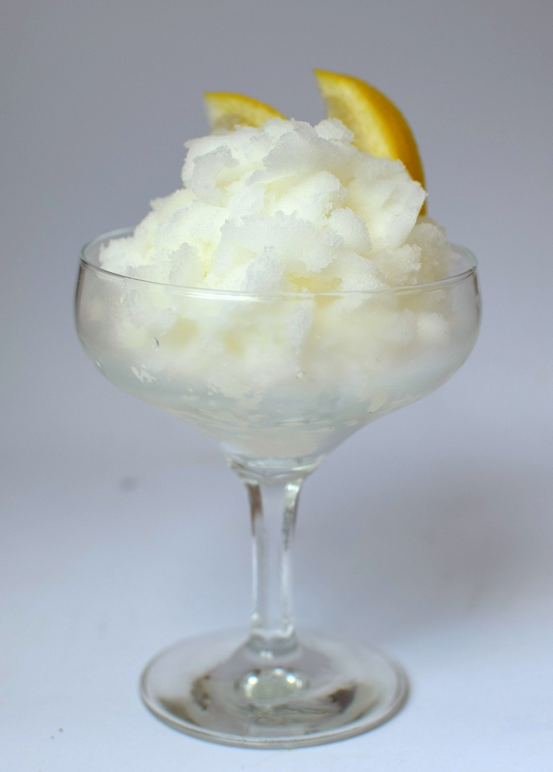 Lemon Granita in a Glass
