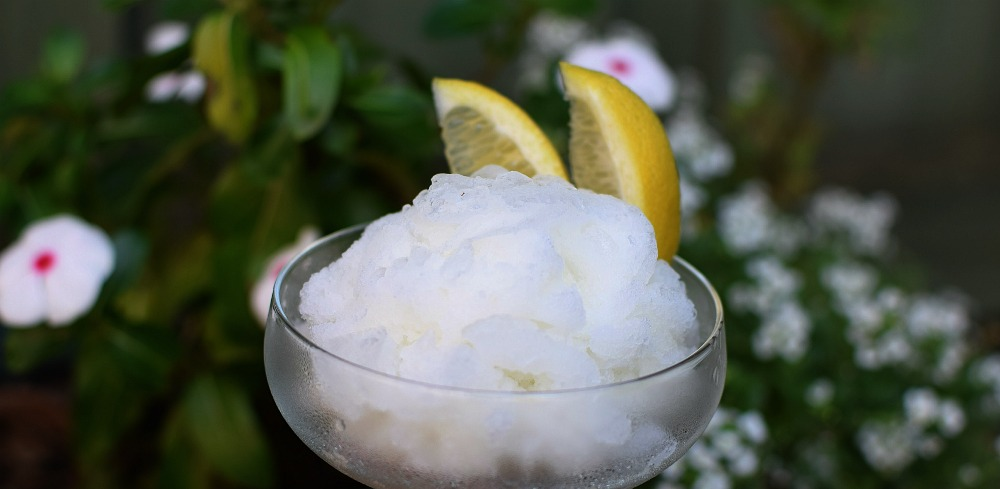 Lemon vodka granita recipe
