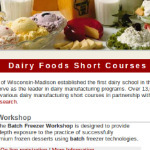 Dairy Food Short Courses