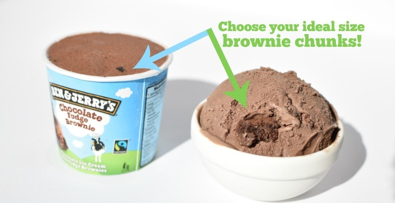 Brownie chunk comparison